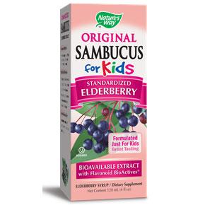 Sambucus For Kids, Black Elderberry Syrup, 4 oz, Natures Way