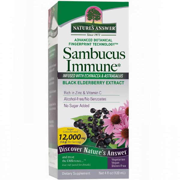 Sambucus Immune Formula, With Black Elderberry Extract, 4 oz, Natures Answer