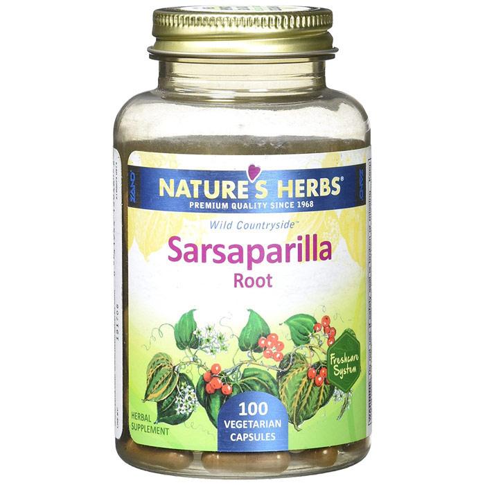 Sarsaparilla Root, 100 Vegetarian Capsules, Natures Herbs