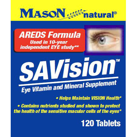 SAVision, AREDS Formula, Vision Health, 120 Tablets, Mason Natural
