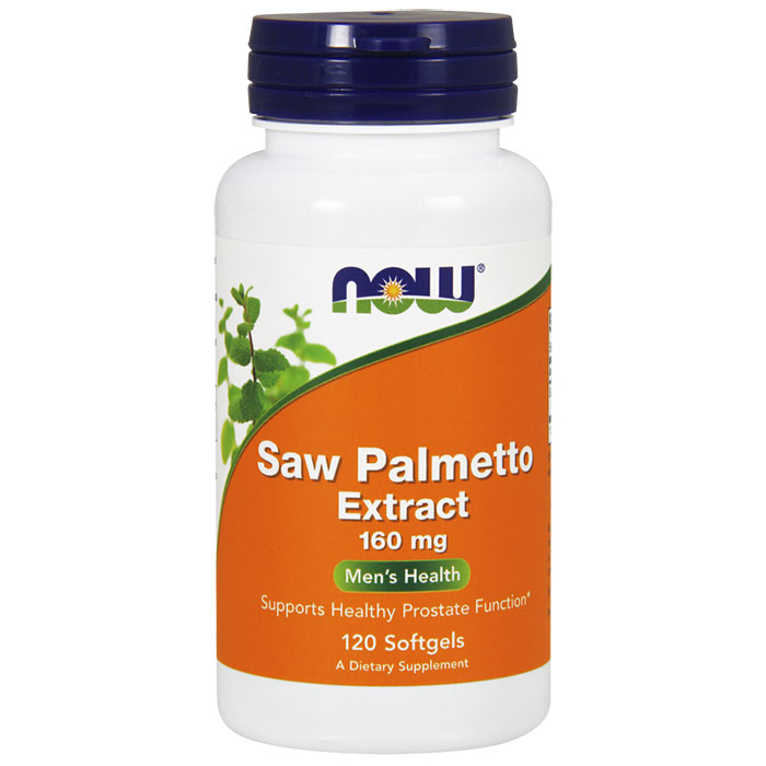 Saw Palmetto Extract 160 mg, 120 Softgels, NOW Foods