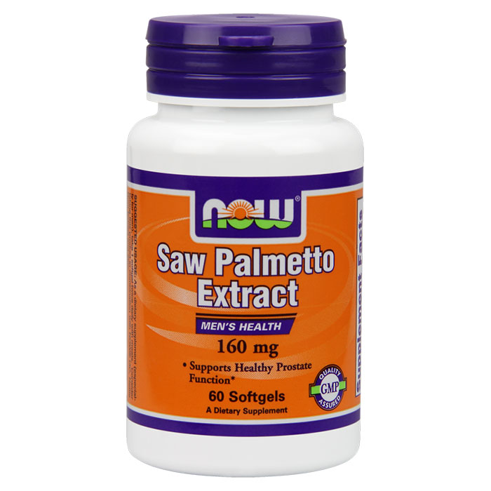 Saw Palmetto Extract 160 mg, 60 Softgels, NOW Foods