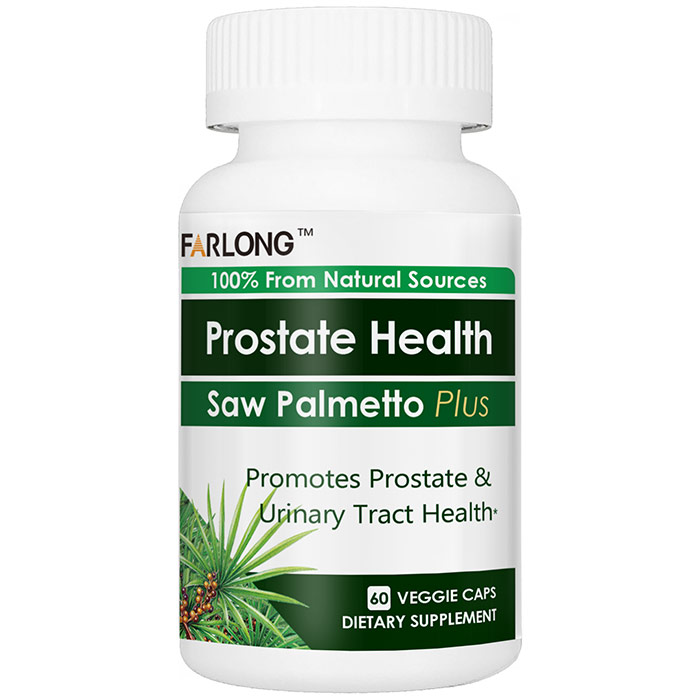Saw Palmetto Plus, for Prostate Health, 60 Veggie Caps, Far Long
