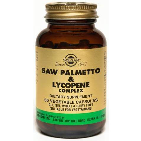 Saw Palmetto & Lycopene Complex, 50 Vegetable Capsules, Solgar