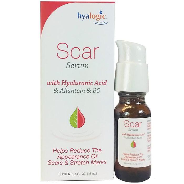 Scar Serum, with Hyaluronic Acid & Allantoin & B5, 0.5 oz, Hyalogic