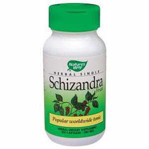 Schizandra Fruit 580mg 100 caps from Natures Way