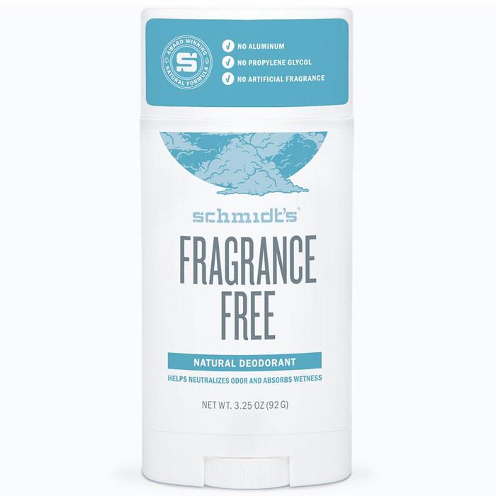 Schmidts Natural Deodorant Stick, Fragrance-Free, 3.25 oz