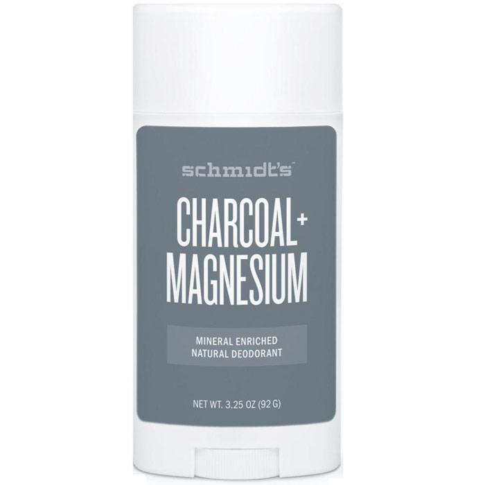 Schmidts Mineral Enriched Natural Deodorant Stick, Charcoal + Magnesium, 3.25 oz