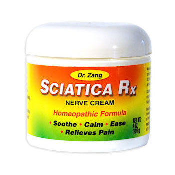 Sciatica Rx, Nerve Cream (Soothe & Relieve Pain) 4 oz, Dr. Zang Homeopathic