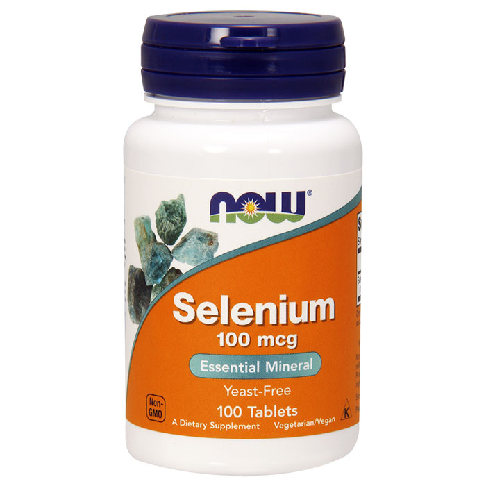 Selenium 100 mcg Yeast Free, 100 Tablets, NOW Foods