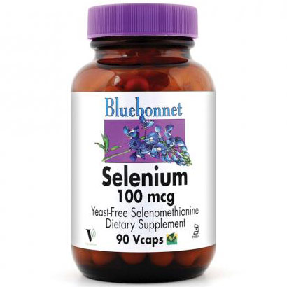 Selenium 100 mcg, 90 Vcaps, Bluebonnet Nutrition