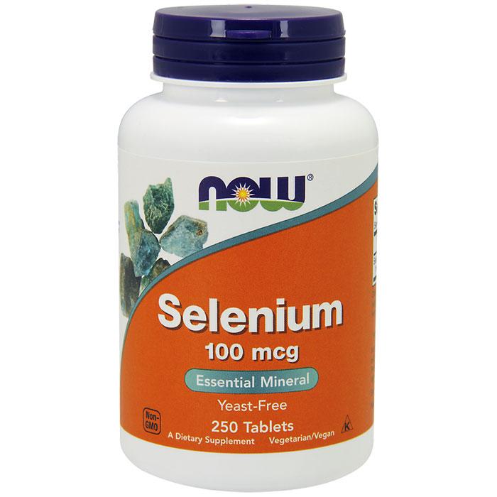 Selenium 100mcg Yeast Free Vegetarian 250 Tabs, NOW Foods