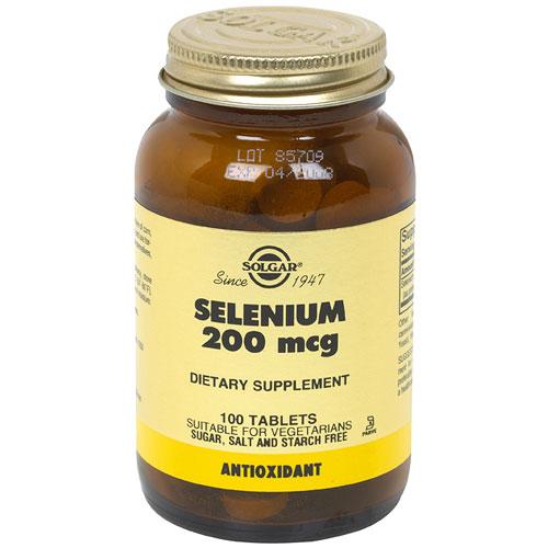 Selenium 200 mcg, 100 Tablets, Solgar