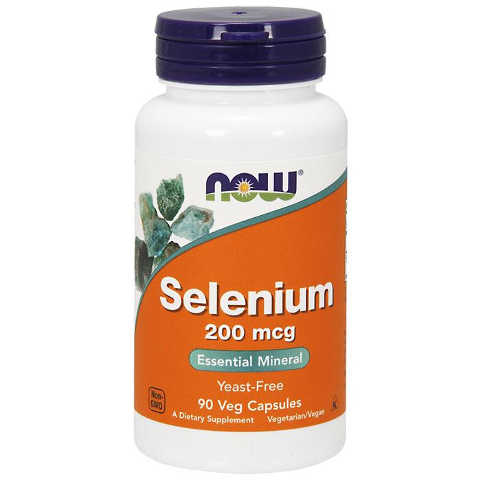 Selenium 200 mcg Yeast Free, 90 Capsules, NOW Foods