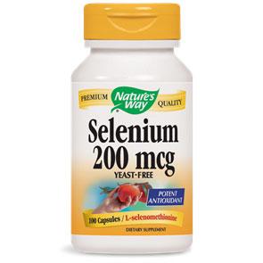 Selenium 200mcg Yeast-Free 100 caps from Natures Way