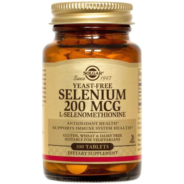 Yeast-Free Selenium 200 mcg, 250 Tablets, Solgar