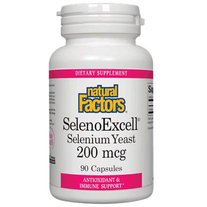 Seleno Excell 200mcg, Selenium Yeast, 90 Capsules, Natural Factors
