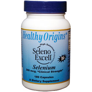 Seleno Excell Selenium, 200 mcg, 180 Capsules, Healthy Origins