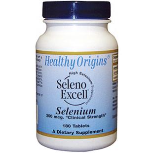 Seleno Excell Selenium, 200 mcg, 180 Tablets, Healthy Origins