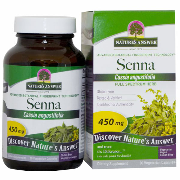 Senna Leaf 450mg 90 caps from Natures Answer