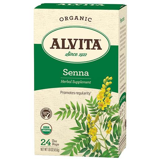 Senna Leaf Tea Organic, 24 Tea Bags, Alvita Tea