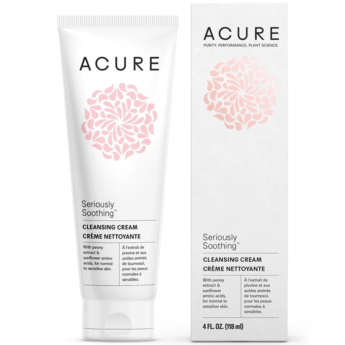 Acure Seriously Soothing Facial Cleansing Cream, 4 oz