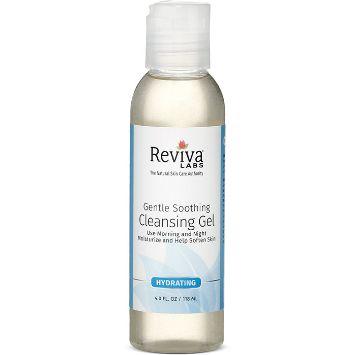 Reviva Labs Gentle & Soothing Cleansing Gel, For Sensitive Skin, 4 oz