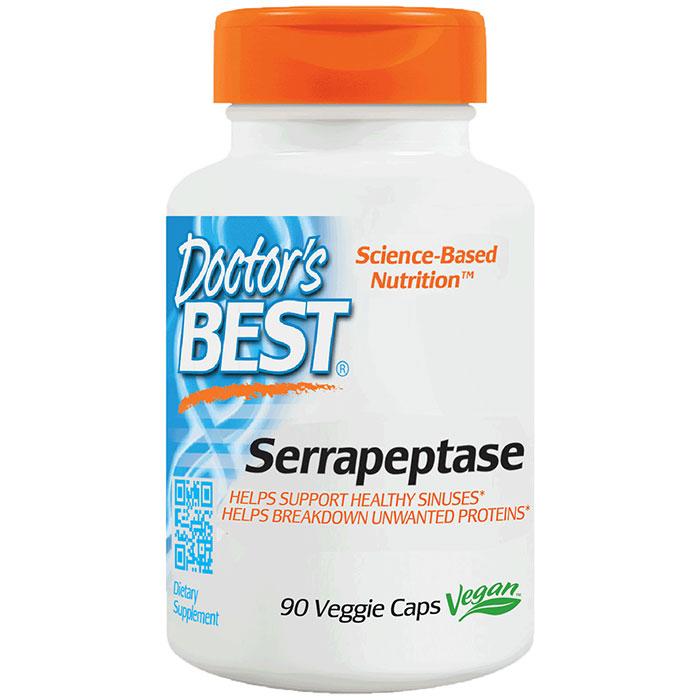 Serrapeptase Enzyme 40,000 Units, 90 Veggie Caps, from Doctors Best
