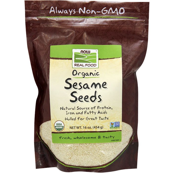 Organic Sesame Seeds, Hulled for Great Taste, 1 lb, NOW Foods