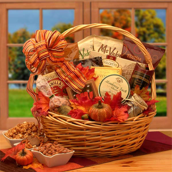 Shades of Fall Snack Gift Basket, Elegant Gift Baskets Online