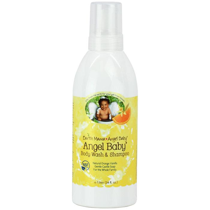 Angel Baby Shampoo & Body Wash, 34 oz, Earth Mama Angel Baby