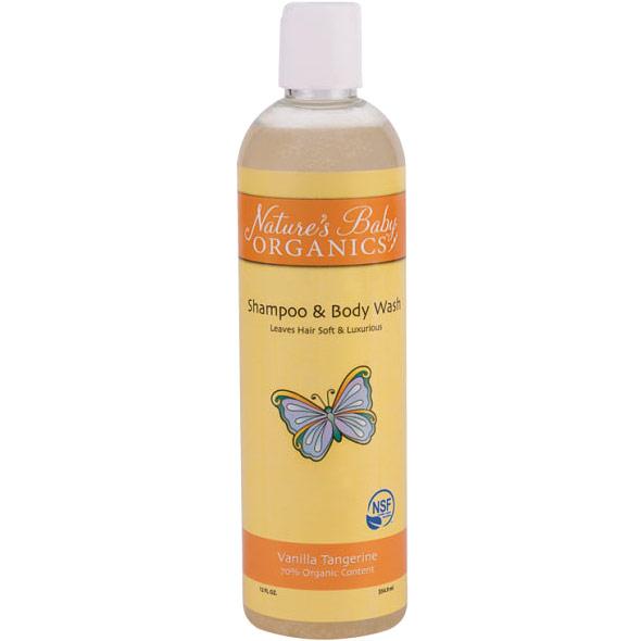 Shampoo & Body Wash, Vanilla Tangerine, 12 oz, Nature's Baby Organics