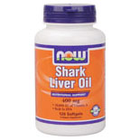 Shark Liver Oil 10,000 IU 400mg 120 Gels, NOW Foods