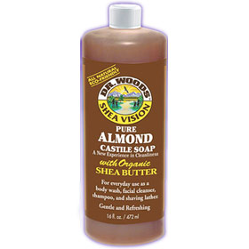 Shea Vision, Pure Almond Castile Soap with Organic Shea Butter, 32 oz, Dr. Woods