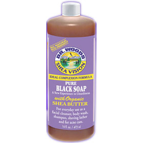 Shea Vision, Pure Black Soap with Organic Shea Butter, 32 oz, Dr. Woods