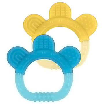 Sili Paw Teether, Aqua/Yellow, 2 Pack, Green Sprouts Baby Products