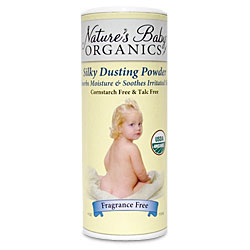Organic Silky Dusting Powder, Fragrance Free, Talc Free Baby Powder, 4 oz, Nature's Baby Organics