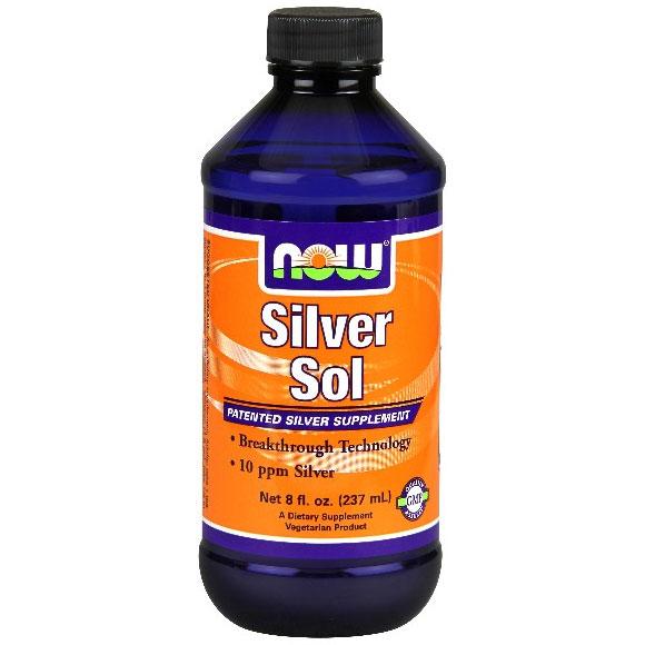 Silver Sol Liquid, 10 ppm, 8 oz, NOW Foods