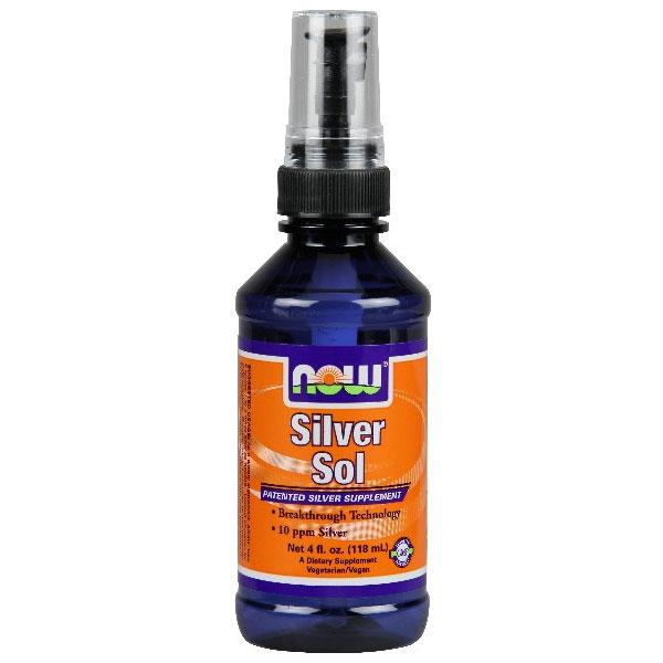 Silver Sol Spray, 10 ppm, 4 oz, NOW Foods