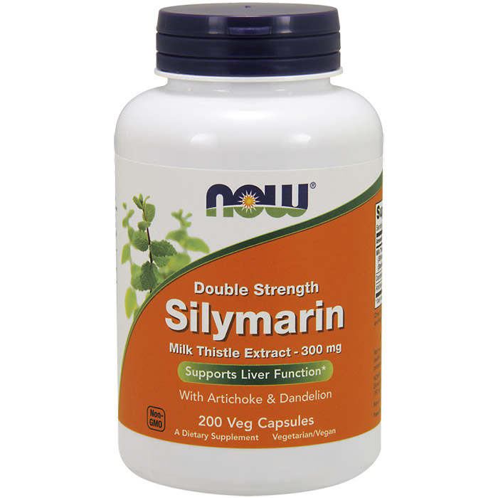 Silymarin 2X Milk Thistle Extract 300 mg, Value Size, 200 Vegetarian Capsules, NOW Foods