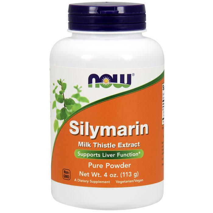 Silymarin Milk Thistle Extract Pure Powder, 4 oz, NOW Foods