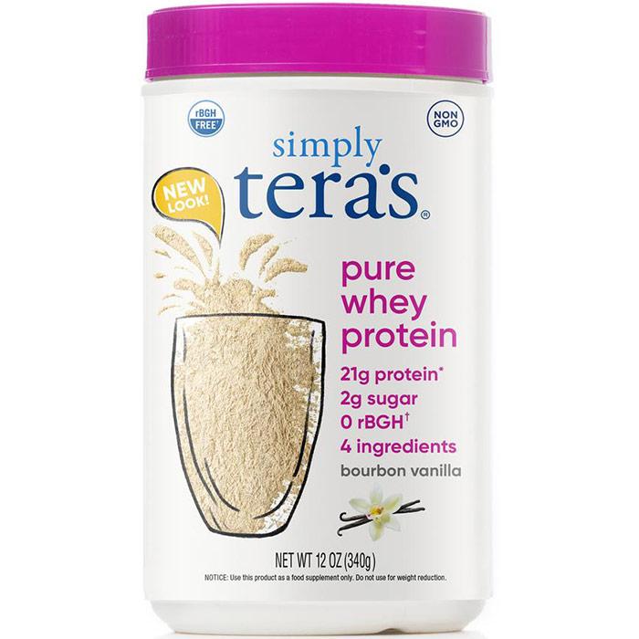 Simply Pure Whey Protein rBGH Free - Bourbon Vanilla, 12 oz, Teras Whey