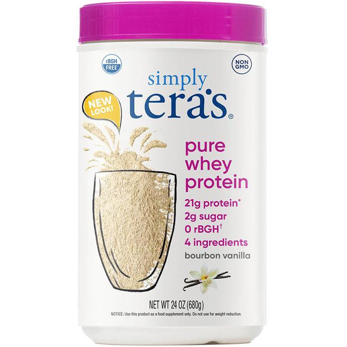 Simply Pure Whey Protein rBGH Free - Bourbon Vanilla, 24 oz, Teras Whey