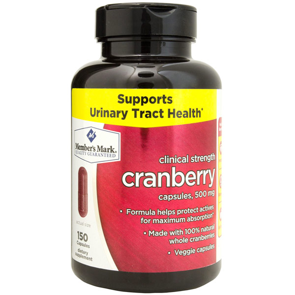 Clinical Strength Cranberry 500 mg, 150 Capsules, Members Mark