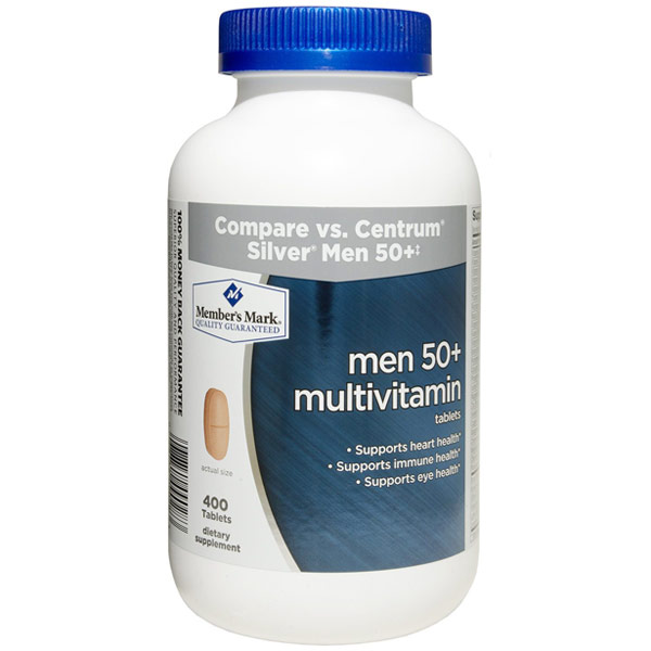 Men 50+ Multivitamin, 400 Tablets, Members Mark