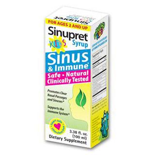 Sinupret for Kids Syrup, Sinus & Immune Support, 3.38 oz, Bionorica