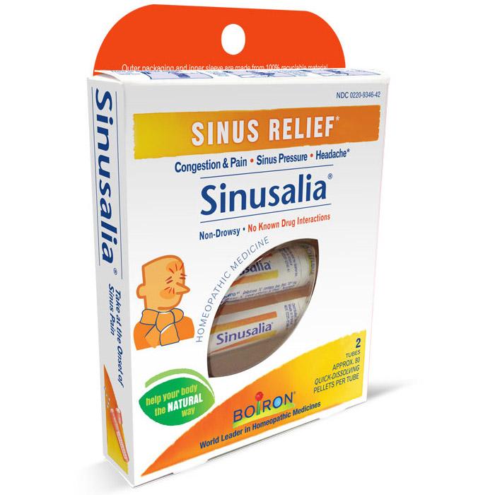 Sinusalia Pellets, Sinus Relief, Approx 80 Pellets x 2 Tubes, Boiron