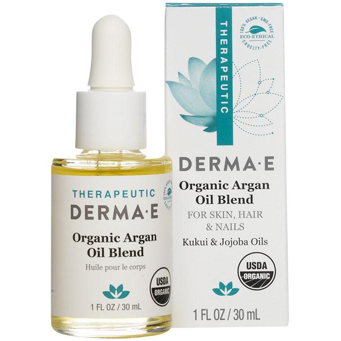 Derma E Skin, Hair and Nail Oil with Organic Argan and Jojoba Oils plus Kukui Oil, 1 oz