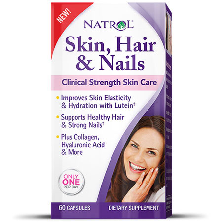 Skin, Hair & Nails Formula, Clinical Strength, 60 Capsules, Natrol