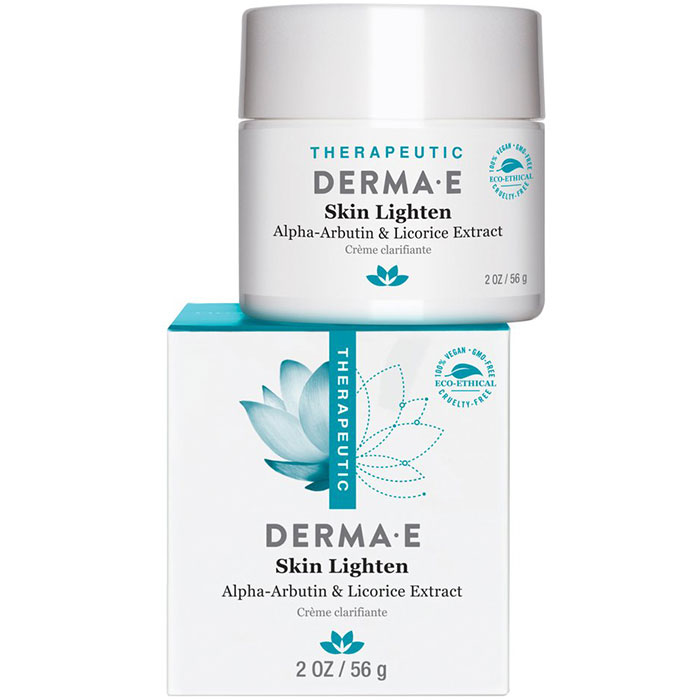 Derma E Skin Lighten Cream with Alpha-Arbutin & Licorice Extract, 2 oz